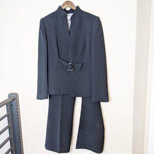 Tahari Arthur S. Levine Womens Pant Suite Black 12
